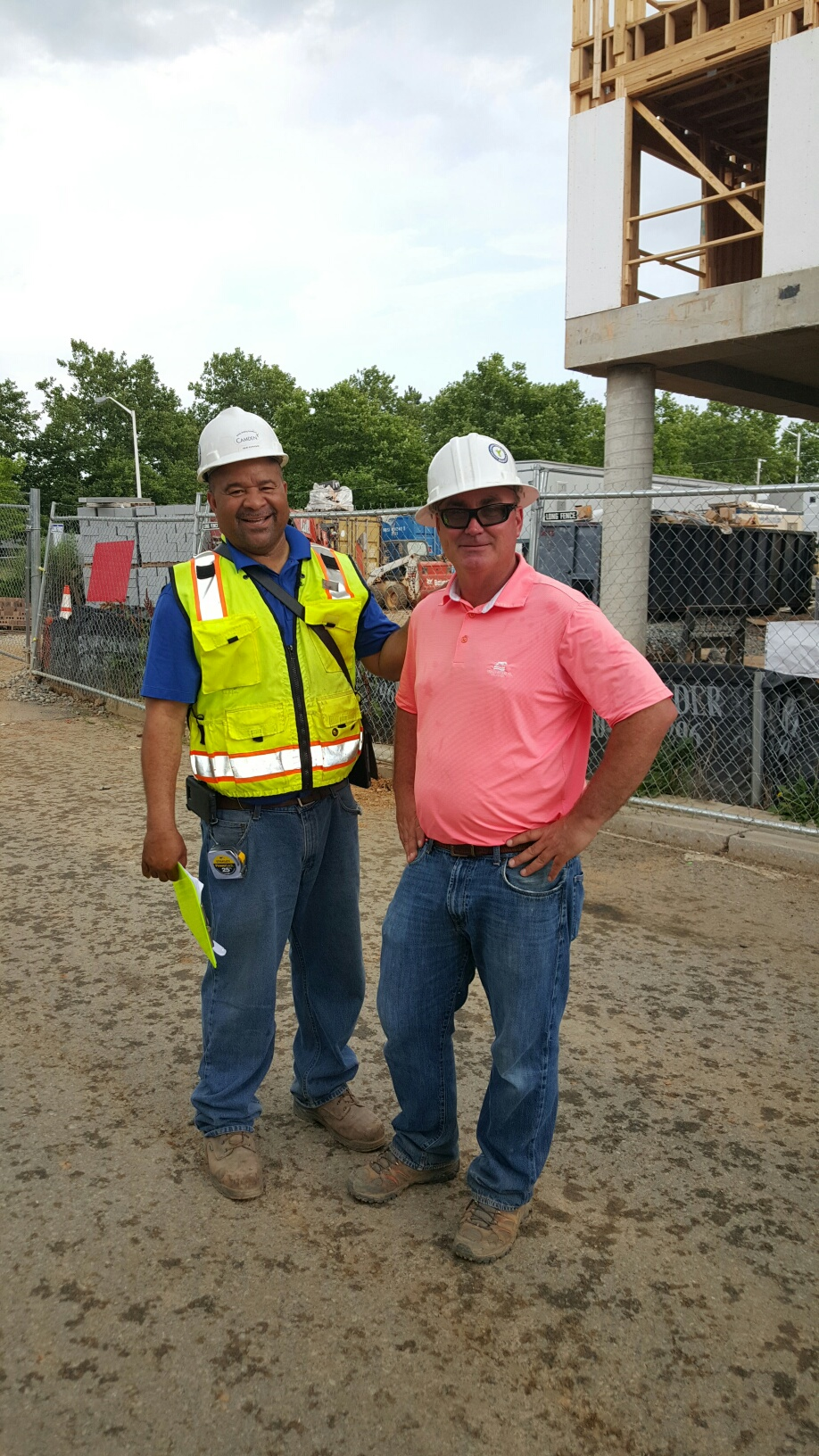 Camden's construction team stopping for a photo. Image by Duane Canter.