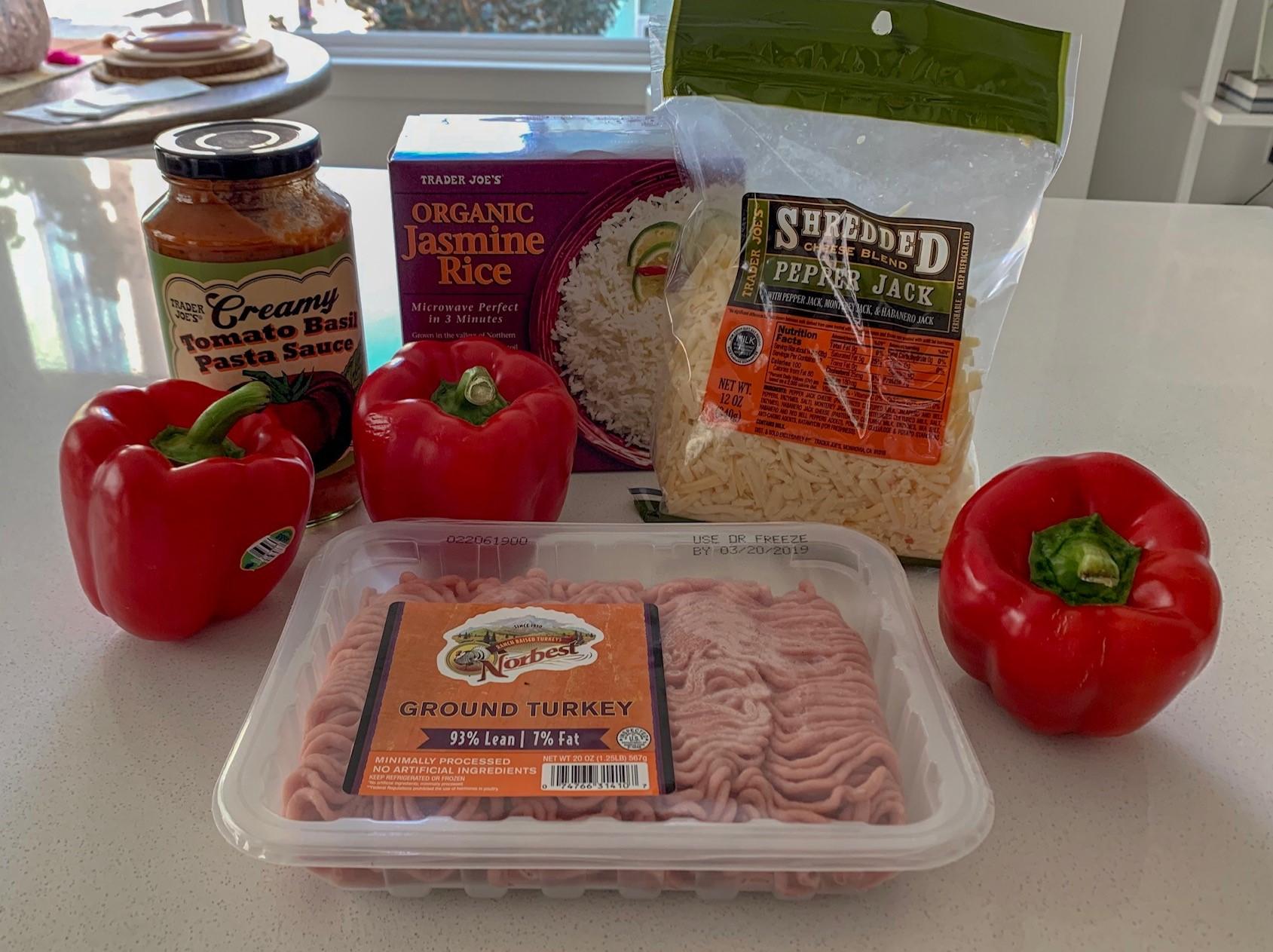 Ingredients from Trader Joe's