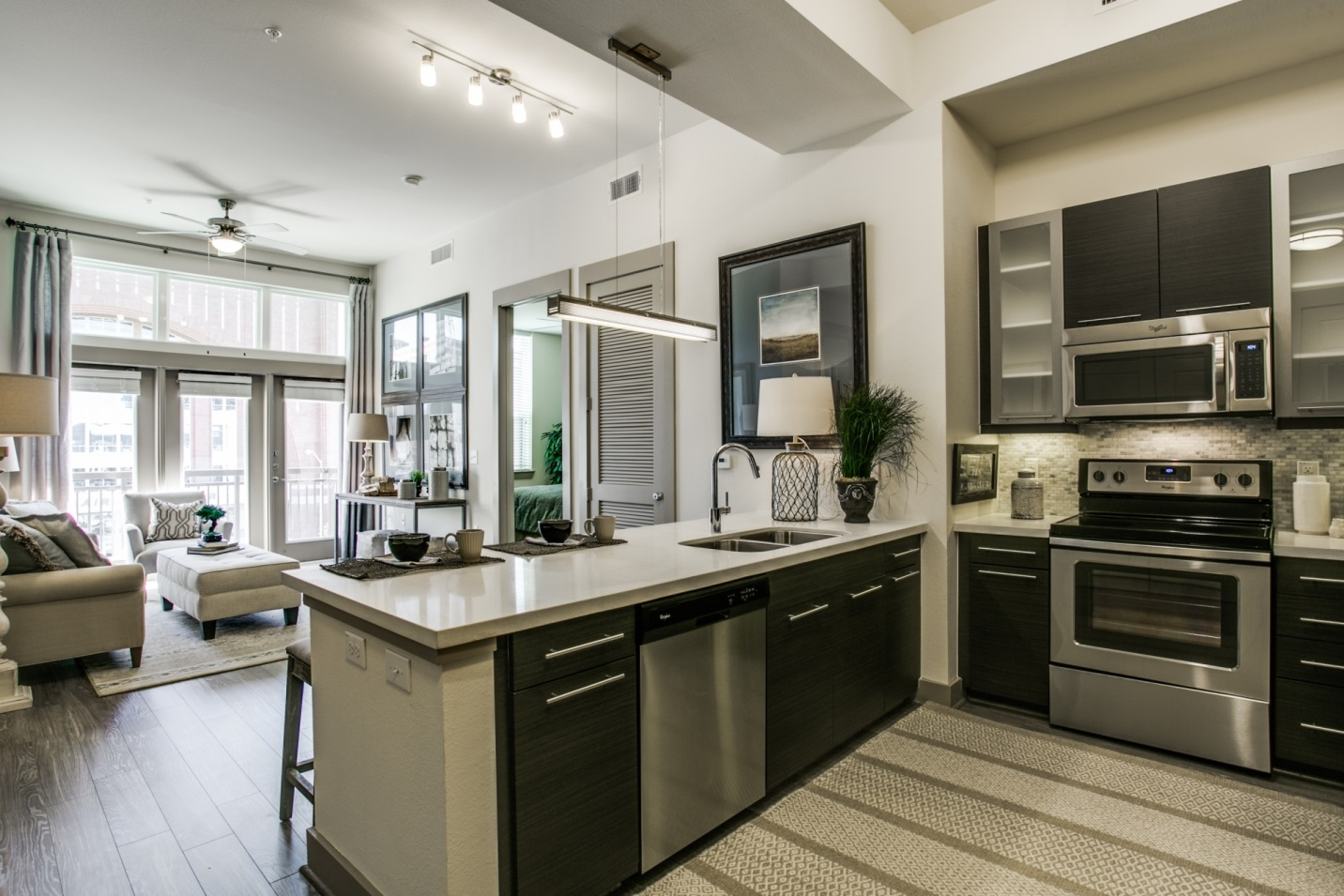 Camden Design District Apartments spending money where it matters designer home on a budget |
