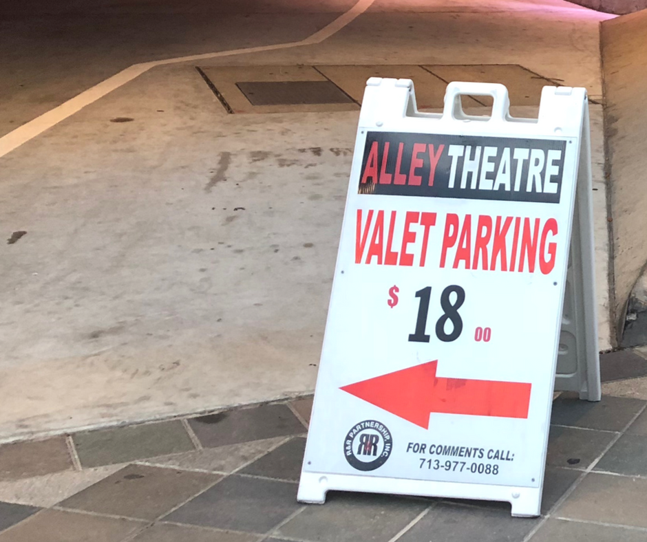 There is plenty of parking near the Alley Theater!