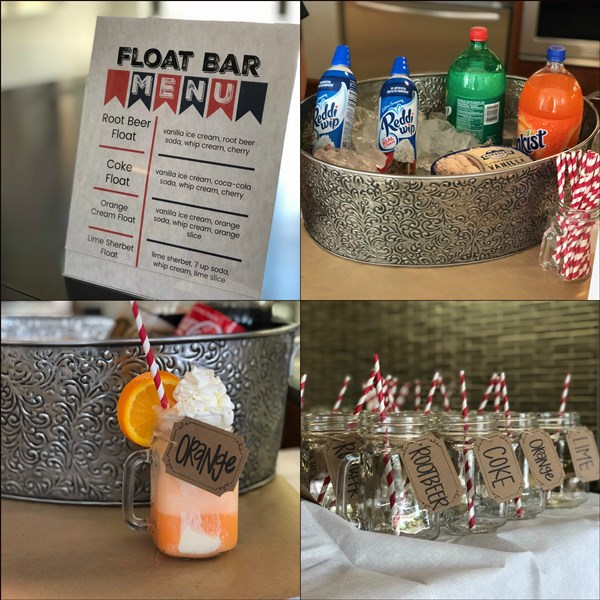 Cooking with Camden - DIY Float Bar Menu