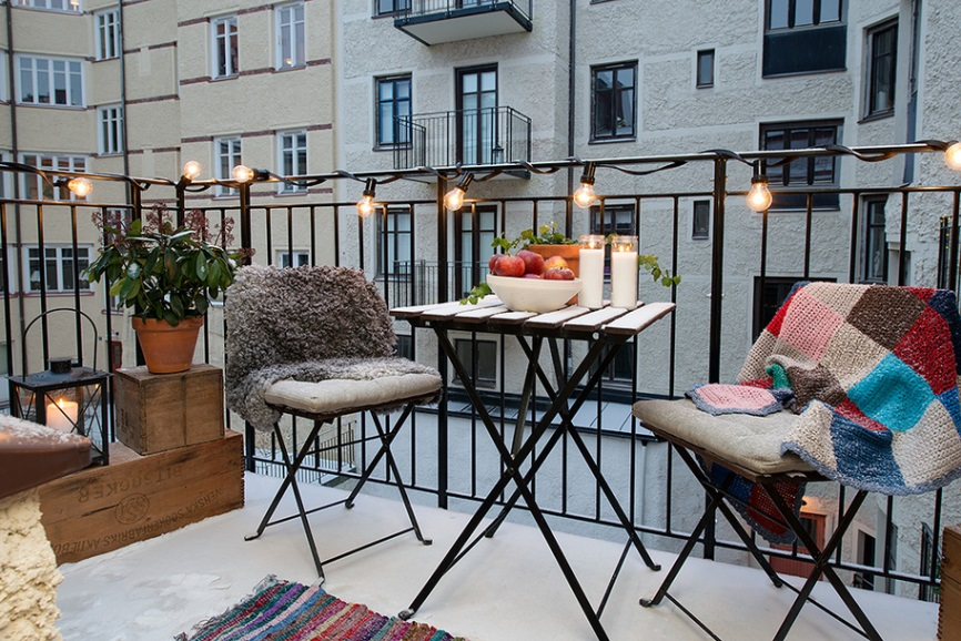 photo from pinterestcom - Apartment Patio