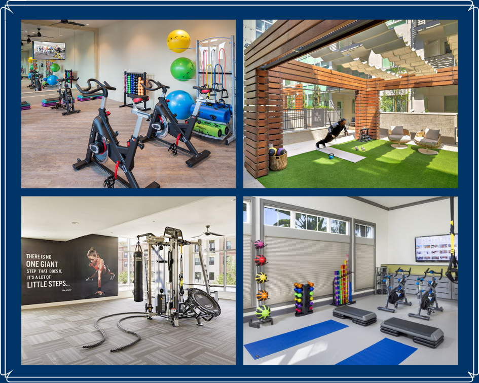 Camden Fitness Center Collage