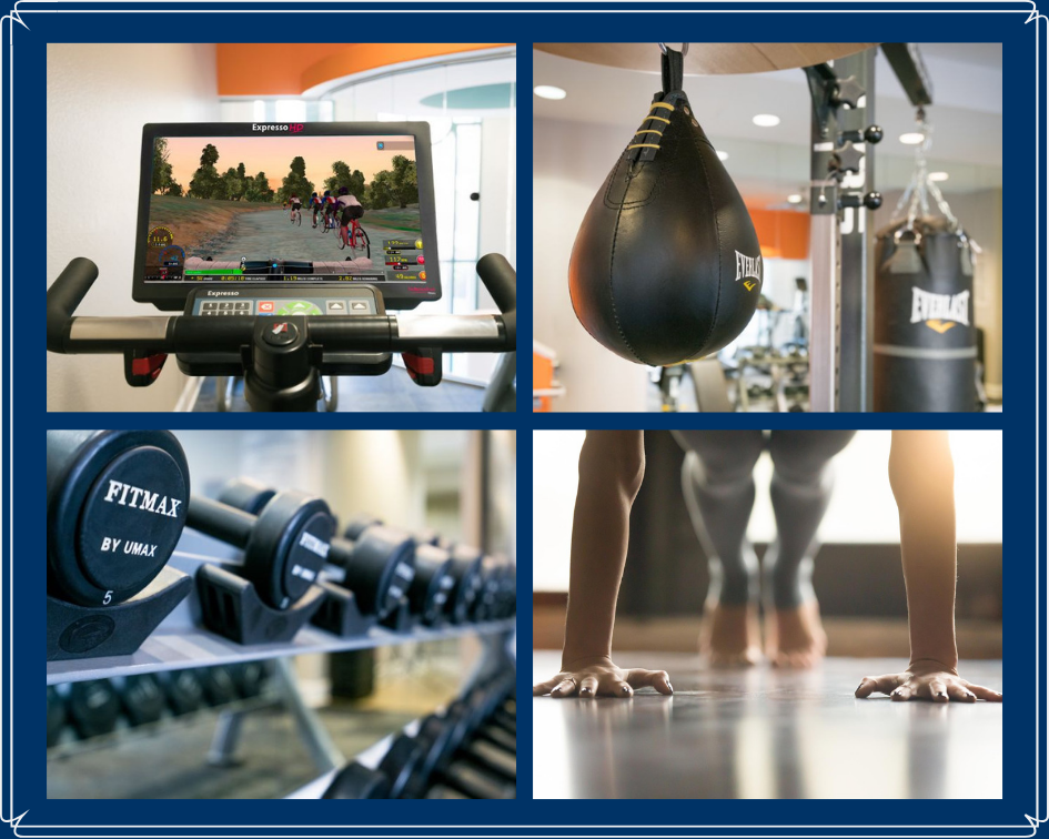 Fitness Equipment Collage