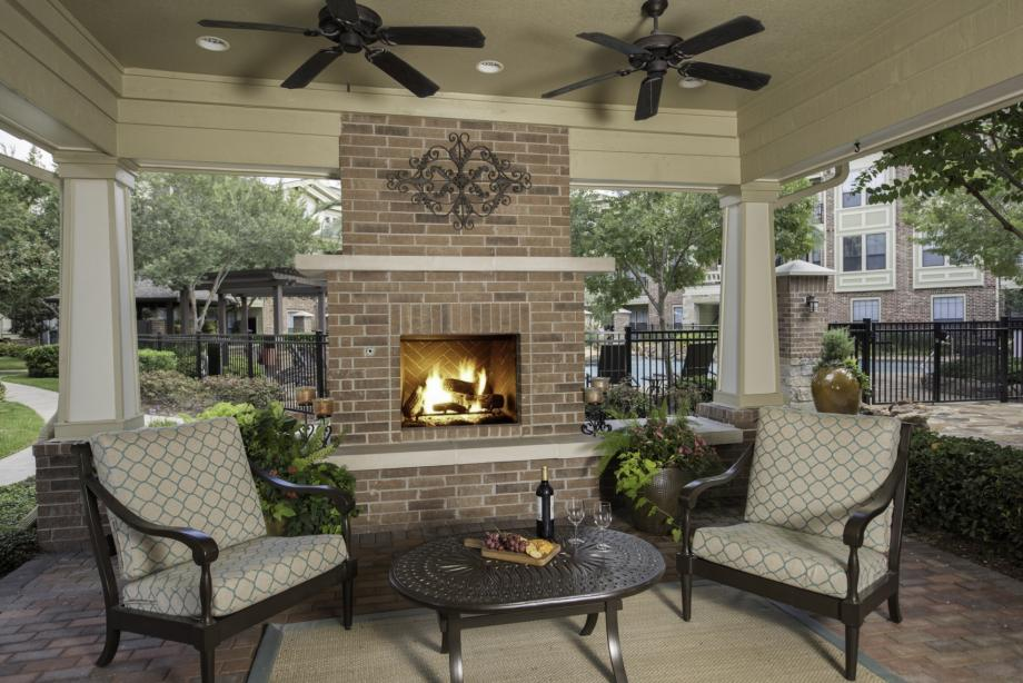 Cozy up next to the fire at your Camden apartment community!