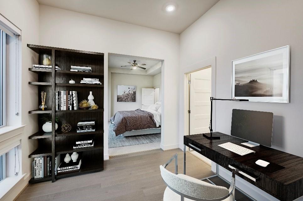 Camden McGowen Station home office setup