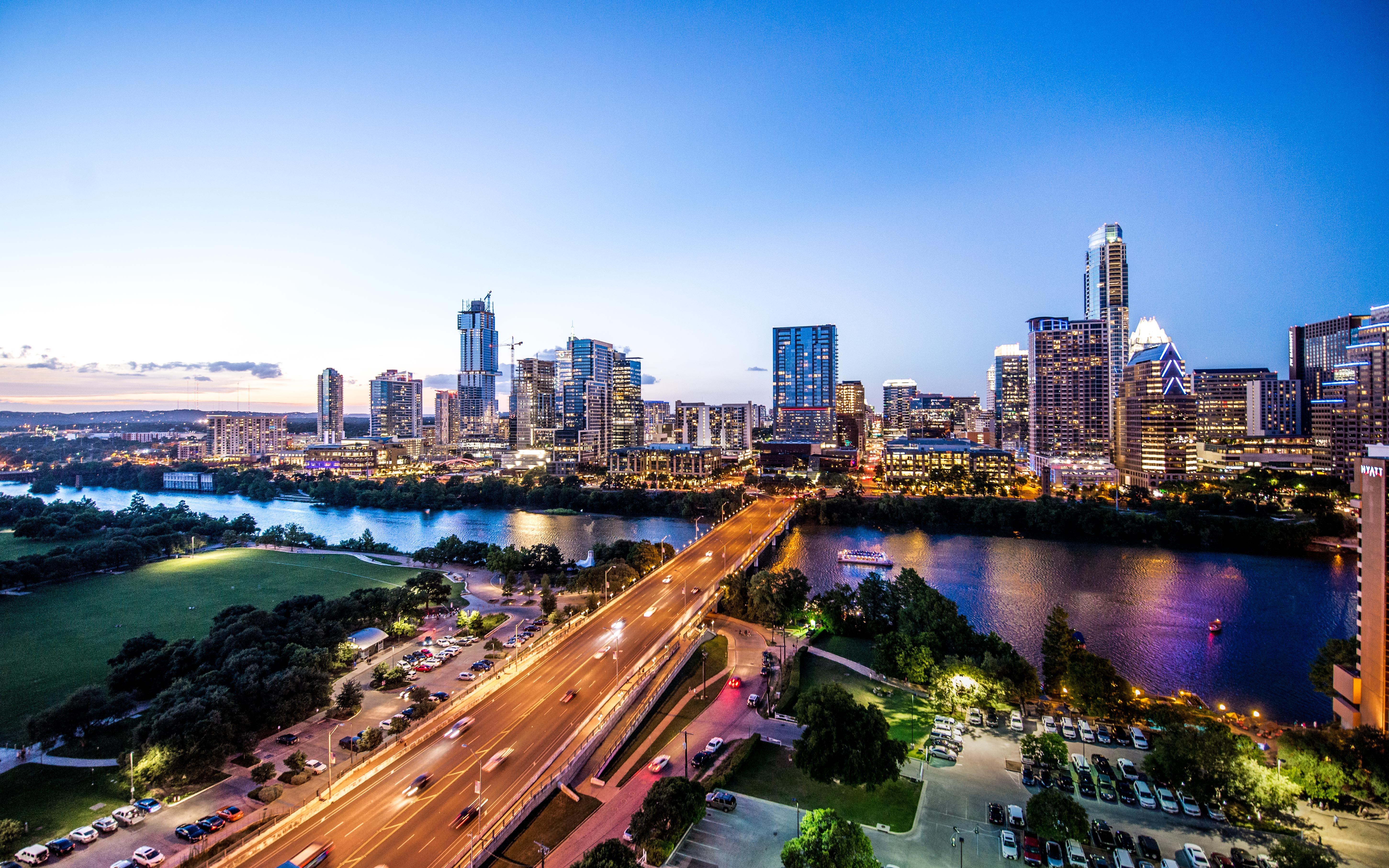 Austin skyline by night