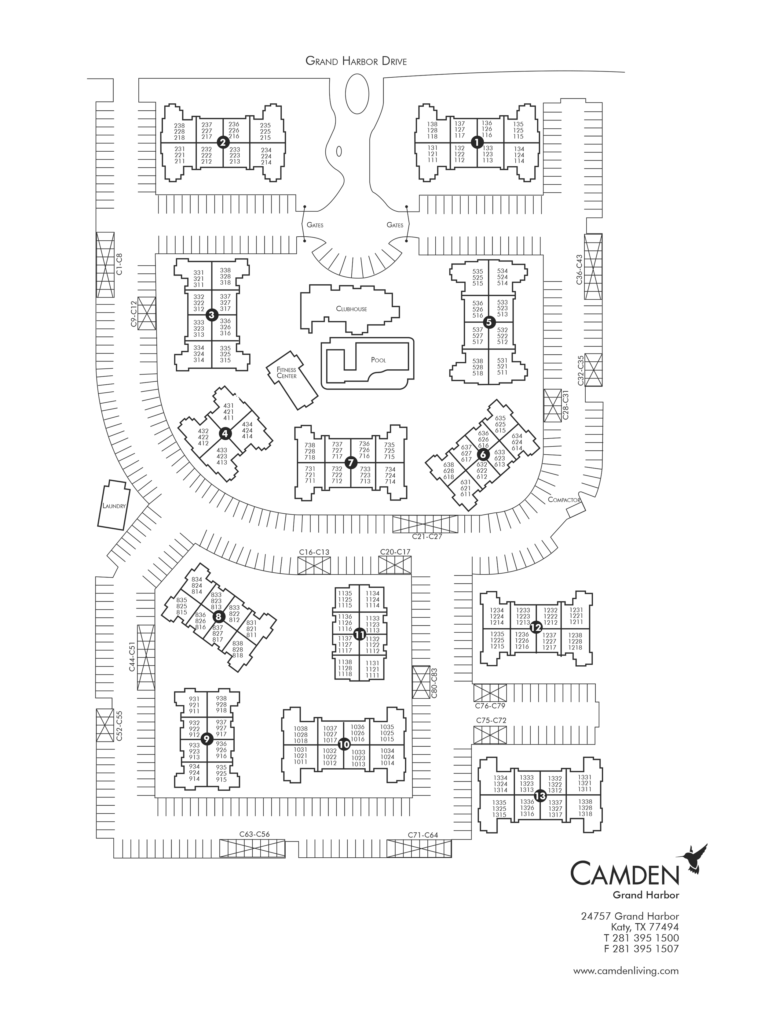 apartments for rent in katy tx camden grand harbor 2 Story Pole Building Framing virtual tour site plan