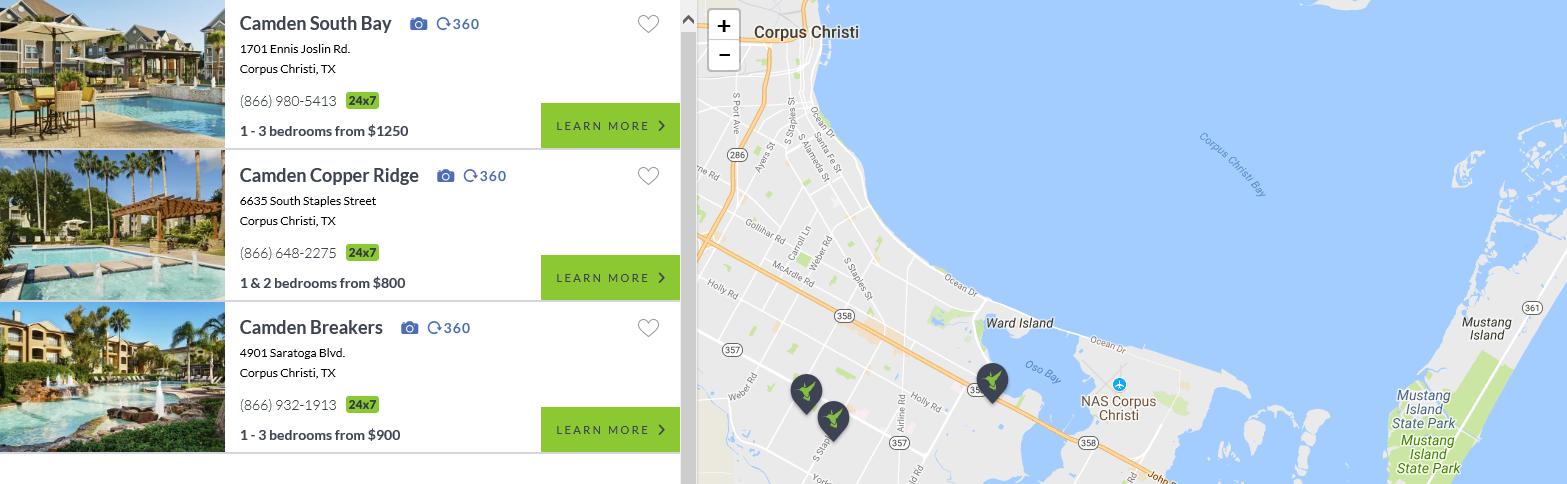 Camden Corpus Christi Locations