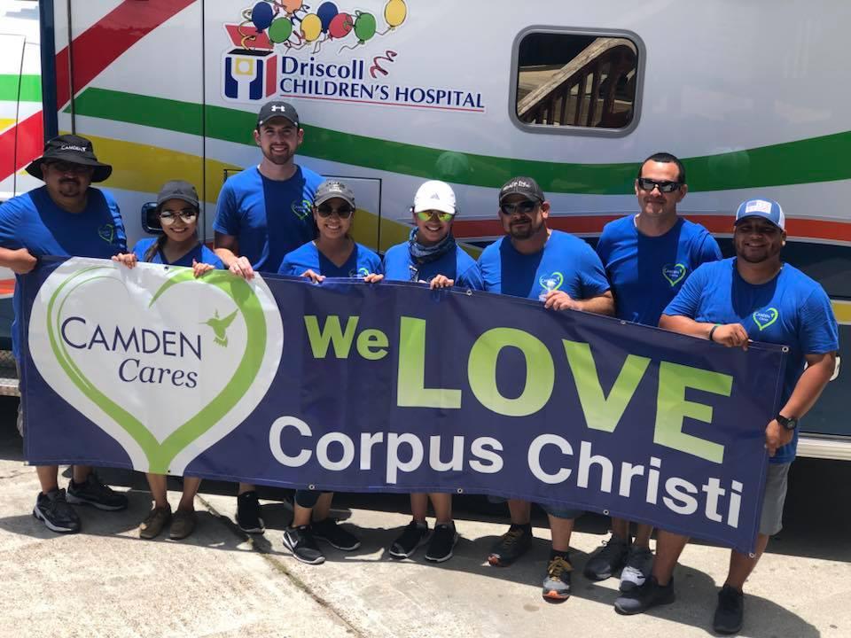 Camden Corpus Christi Employees with Camden Cares