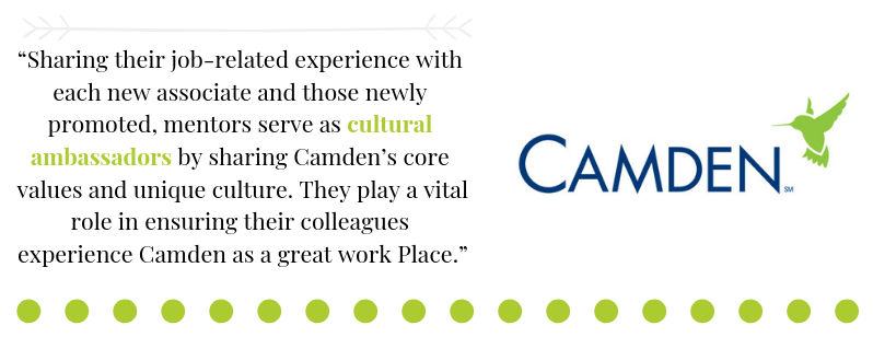 Quote by Camden President Dean Keith Oden