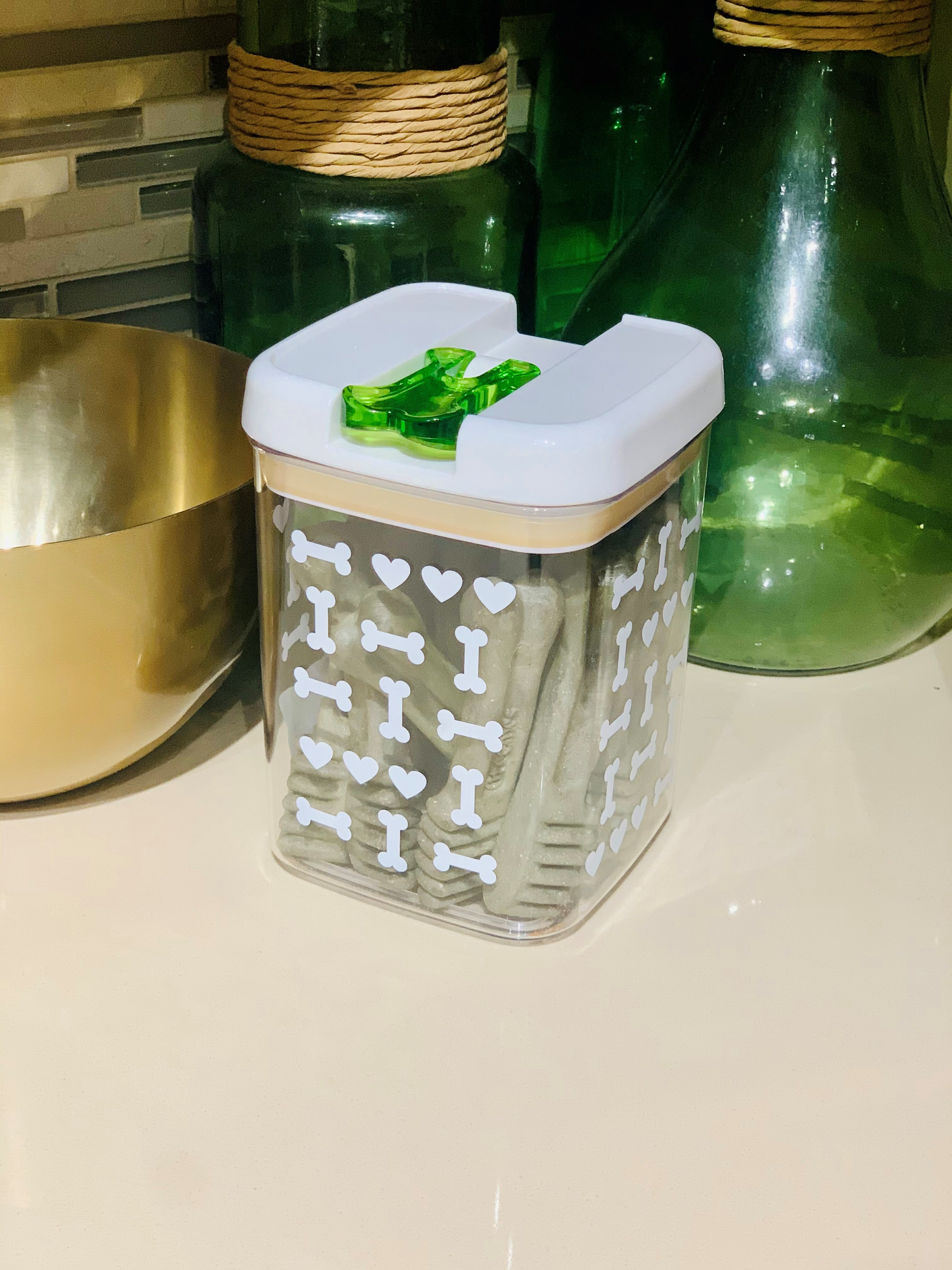 Dog treat storage container
