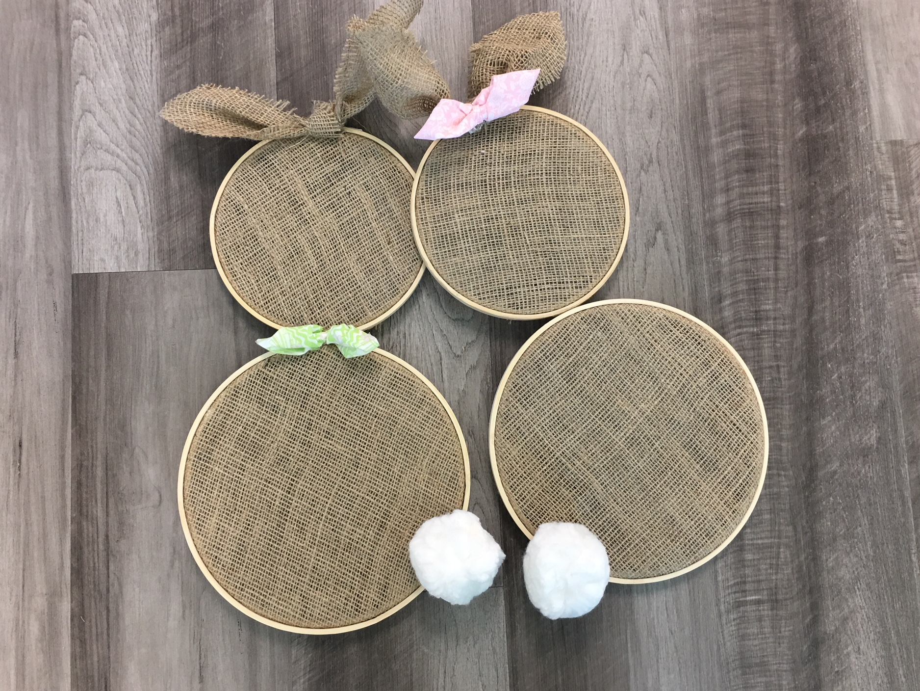 Easy DIY Easter Burlap Bunny Decoration