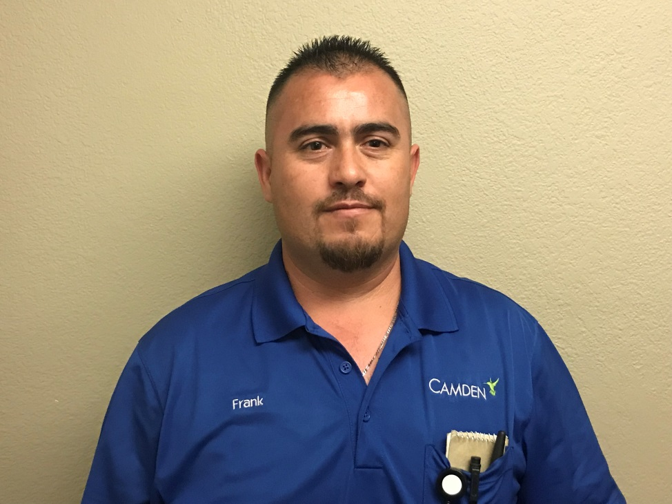 Assistant Maintenance Supervisor, Frank Arciga