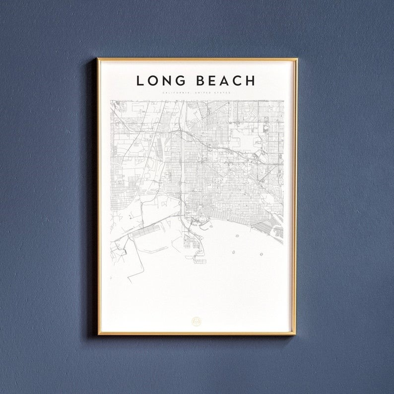 long beach-city-map-art