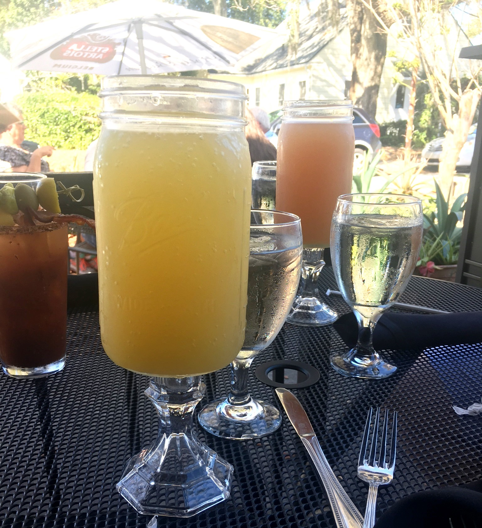 Mason Jar Mimosa from Maxine's On Shine!
