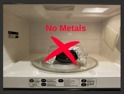 Never Put Metals in Your Microwave