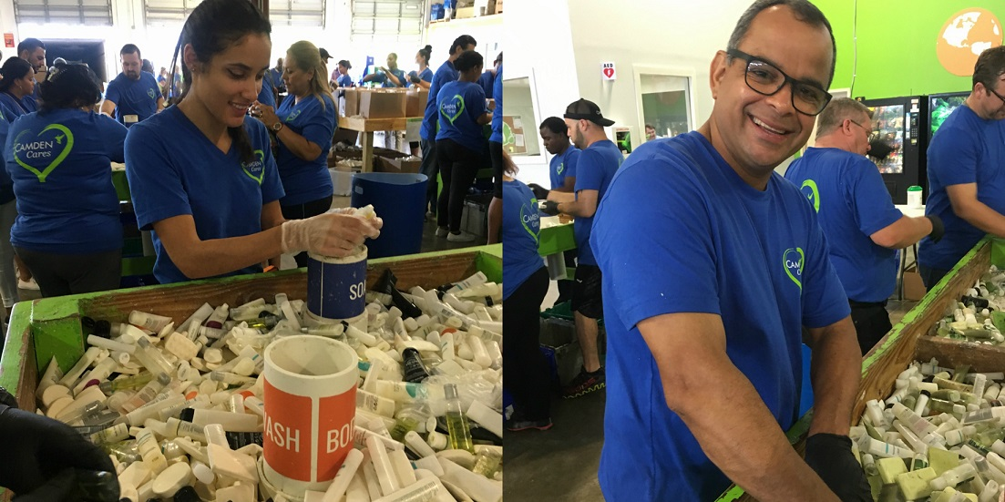 Maria and Jose are happy to help Clean the World Foundation!