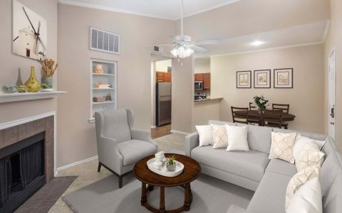 Camden Cimarron Apartments Irving Texas Living Room Top Floor