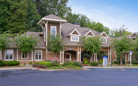 Resident Clubhouse at Camden Deerfield Apartments in Alpharetta, Georgia