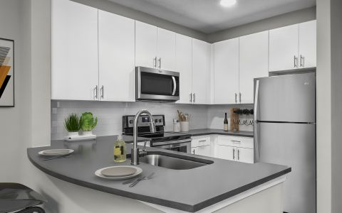 Modern Kitchen at Camden Deerfield Apartments in Alpharetta, GA