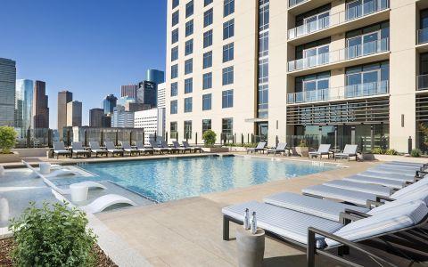Swimming Pool at Camden Downtown Houston apartments in Houston, Texas