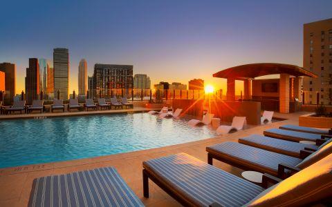 Swimming Pool at Camden Downtown Houston apartments in Houston, TX