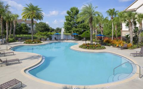 Pool at Camden Lago Vista in Orlando Florida
