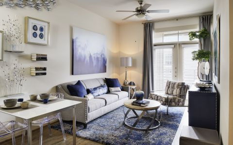 Living Room at Camden Lincoln Station Apartments in Lone Tree, CO