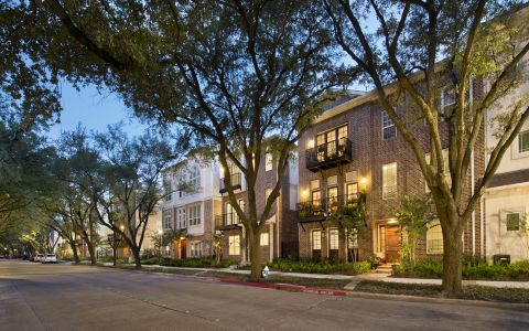 Townhomes Exterior at Camden Highland Village in Houston, TX
