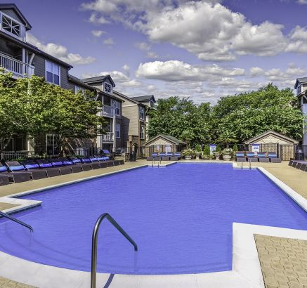 Pool at Camden Ballantyne Apartments in Charlotte, NC
