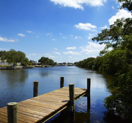 Boat Dock at Camden Bay Apartments in Tampa, FL