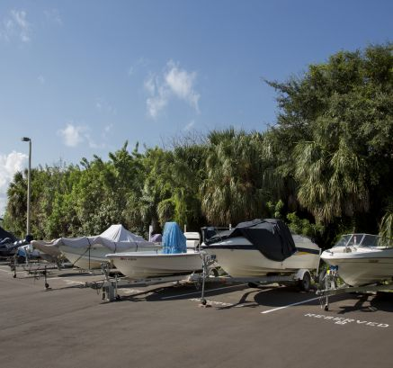 Boat Parking Camden Bay Apartments in Tampa, FL