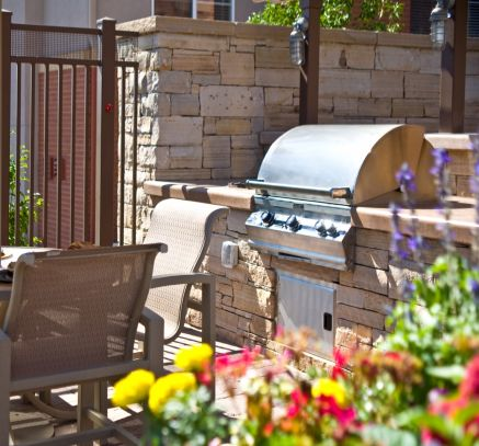 Community grill at Camden Belleview Station Apartments Denver, CO