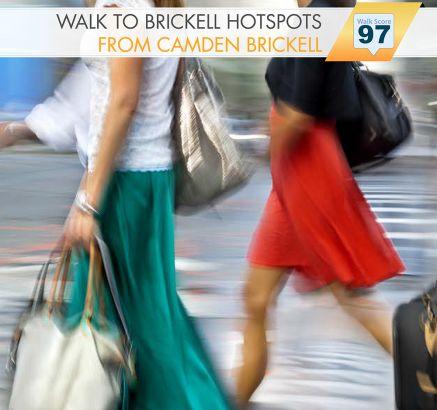 Camden Brickell Apartments walkscore in Miami, FL
