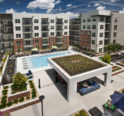 Camden Buckhead Square Apartments in Buckhead, Atlanta, GA pool day