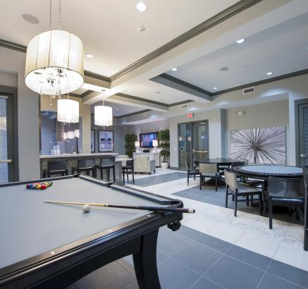 Game Lounge at Camden City Centre Apartments in Houston, TX