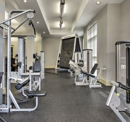 Fitness Center with Climbing Wall at Camden College Park Apartments in College Park, MD
