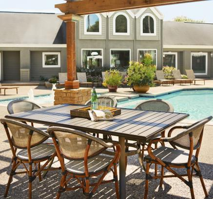 Outdoor Grills and Dining Areas at Camden Copper Ridge Apartments in Corpus Christi, TX