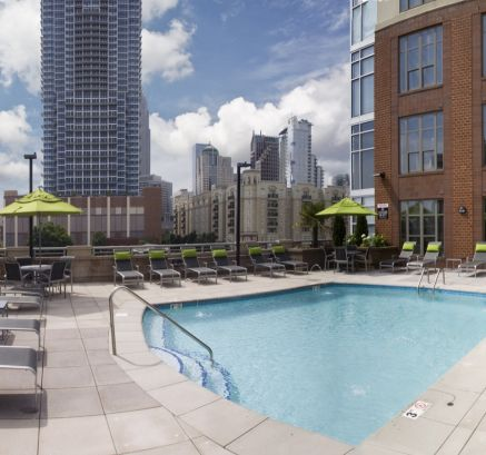 Rooftop Pool at Camden Cotton Mills Apartments in Uptown Charlotte, NC