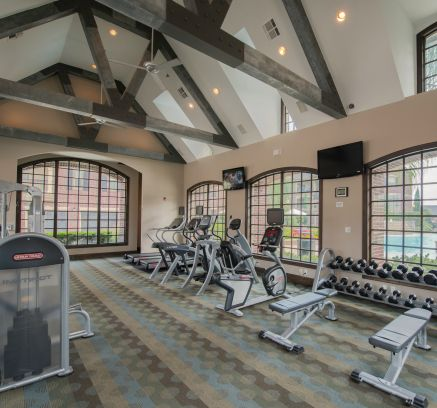 Fitness Center at Camden Cypress Creek Apartments in Houston, TX