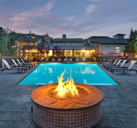 Fire Pit at Camden Denver West Apartments in Golden, CO
