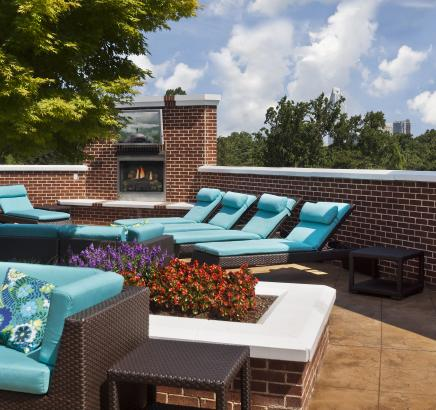 Rooftop Terrace at Camden Dilworth Apartments in Charlotte, NC