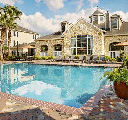 Pool at Camden Downs at Cinco Ranch Apartments in Katy, TX