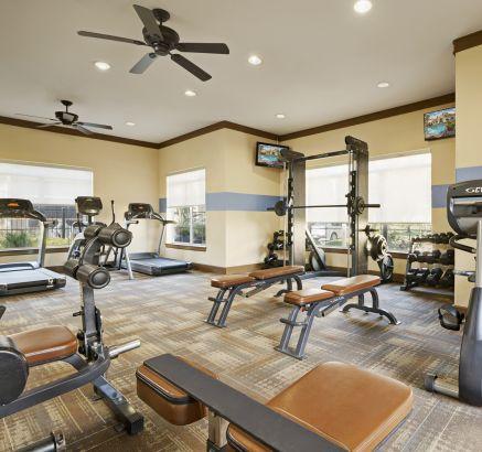 Fitness Center at Camden Downs at Cinco Ranch Apartments in Katy, TX