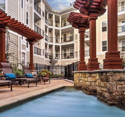 Pool at Camden Dulles Station Apartments in Herndon, VA