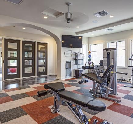 Fitness center at Camden Foothills apartments in Scottsdale, AZ