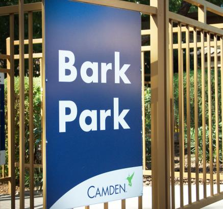 Dog Park at Camden Foxcroft Apartments in Charlotte, NC