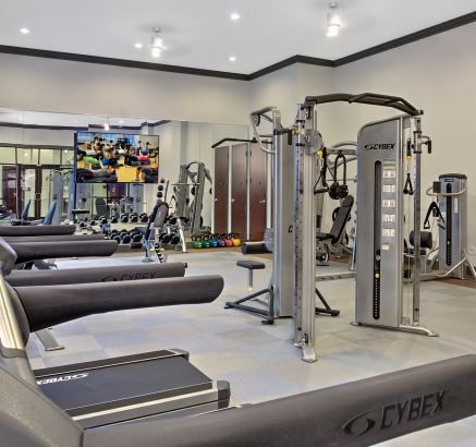 Fitness Center at Camden Gallery Apartments in Charlotte, NC
