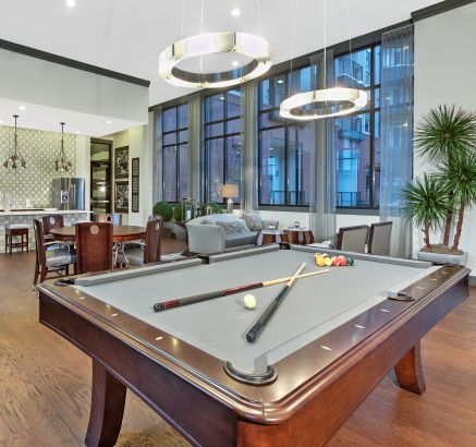 Club room at Camden Gallery Apartments in Charlotte, NC